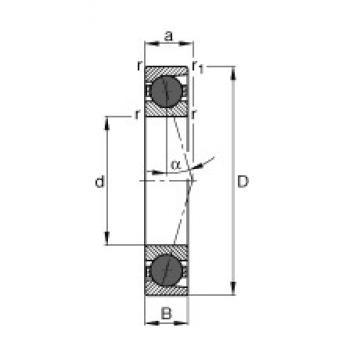 120 mm x 180 mm x 28 mm  FAG HCB7024-C-T-P4S angular contact ball bearings