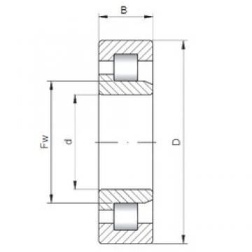 190 mm x 340 mm x 92 mm  Loyal NJ2238 E cylindrical roller bearings