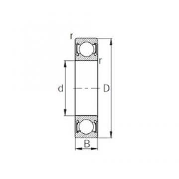 15 mm x 42 mm x 13 mm  KBC EC6302DD deep groove ball bearings