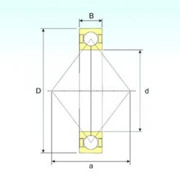 50 mm x 110 mm x 27 mm  ISB QJ 310 N2 M angular contact ball bearings
