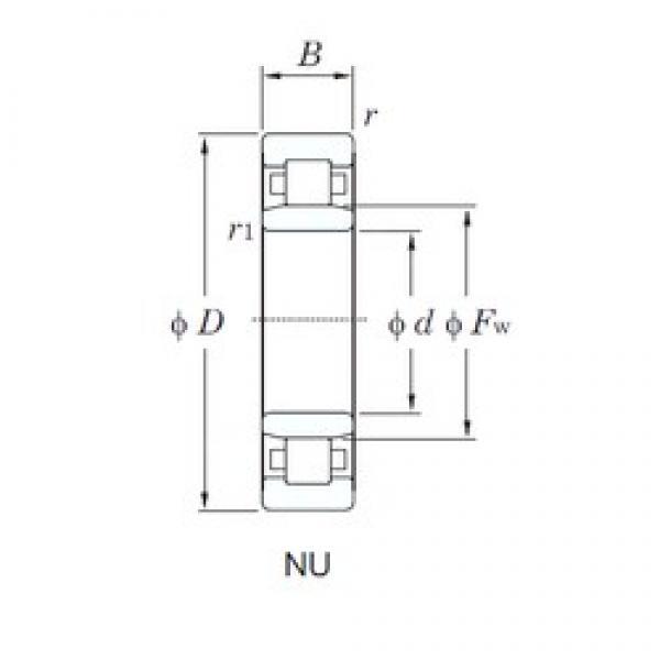 50 mm x 110 mm x 27 mm  KOYO NU310 cylindrical roller bearings #3 image