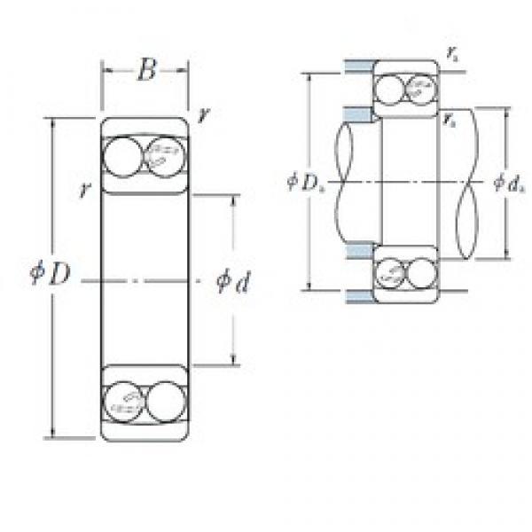 50 mm x 110 mm x 27 mm  NSK 1310 self aligning ball bearings #3 image