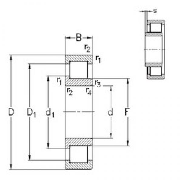 190 mm x 340 mm x 92 mm  NKE NJ2238-E-MA6 cylindrical roller bearings #3 image
