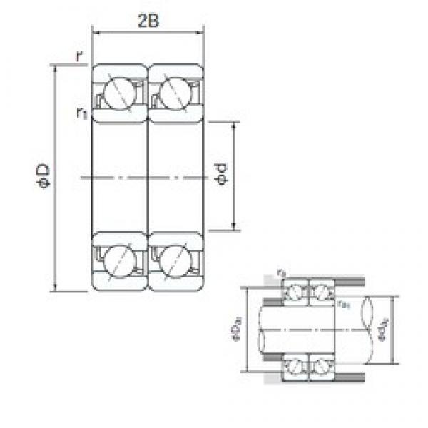 15 mm x 42 mm x 13 mm  NACHI 7302BDT angular contact ball bearings #3 image