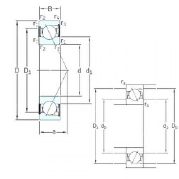 80 mm x 140 mm x 26 mm  SNFA E 280 /S/NS /S 7CE1 angular contact ball bearings #3 image