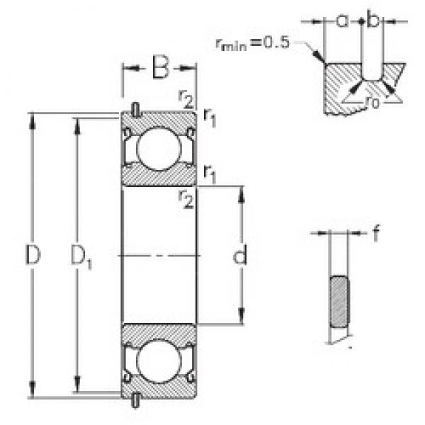 65 mm x 120 mm x 23 mm  NKE 6213-2Z-NR deep groove ball bearings #3 image