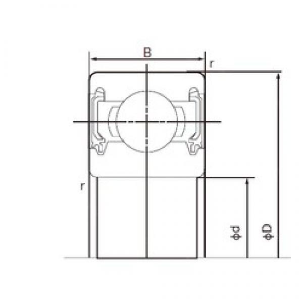 45 mm x 58 mm x 7 mm  NACHI 6809-2NKE deep groove ball bearings #3 image