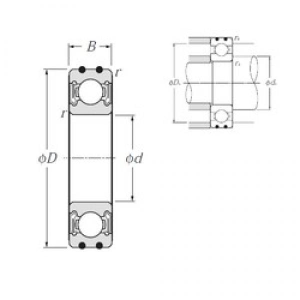 15 mm x 42 mm x 13 mm  NTN AC-6302LLB deep groove ball bearings #3 image