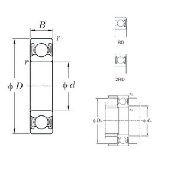 45 mm x 58 mm x 7 mm  KOYO 6809-2RD deep groove ball bearings #3 image