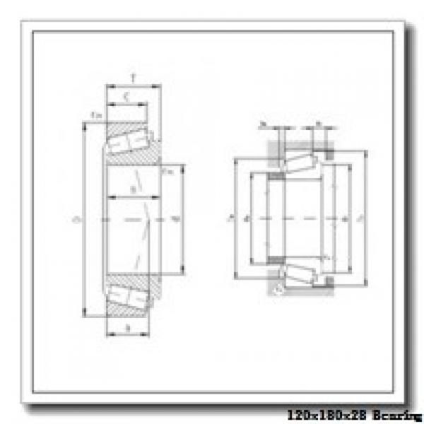 120 mm x 180 mm x 28 mm  NTN 7024UADG/GNP42 angular contact ball bearings #1 image