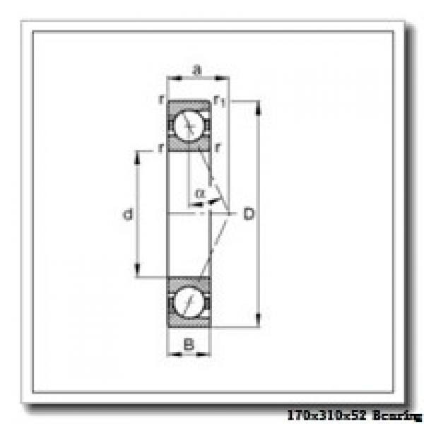 170 mm x 310 mm x 52 mm  KOYO 7234B angular contact ball bearings #1 image