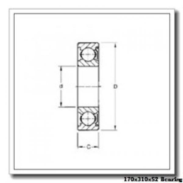 170 mm x 310 mm x 52 mm  NSK QJ 234 angular contact ball bearings #1 image