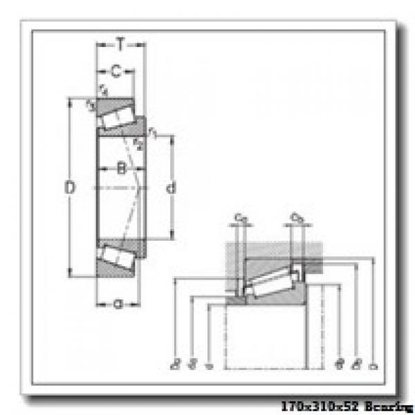 170 mm x 310 mm x 52 mm  NACHI 7234C angular contact ball bearings #2 image