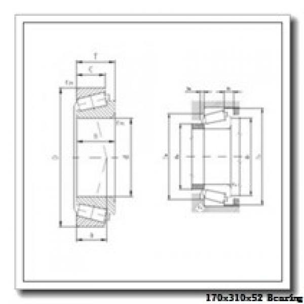 170 mm x 310 mm x 52 mm  KOYO 7234B angular contact ball bearings #2 image