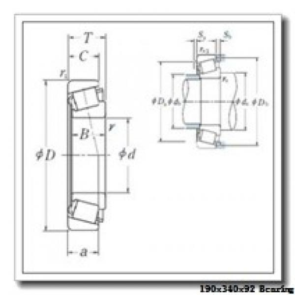 190 mm x 340 mm x 92 mm  ISO NU2238 cylindrical roller bearings #1 image