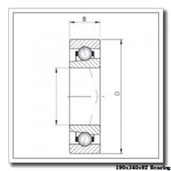 190 mm x 340 mm x 92 mm  NKE NU2238-E-M6 cylindrical roller bearings #1 image