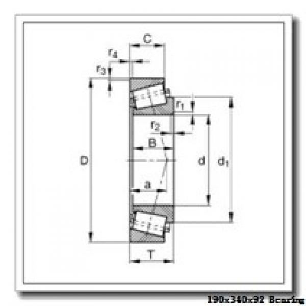 190 mm x 340 mm x 92 mm  NKE NJ2238-E-MA6 cylindrical roller bearings #1 image