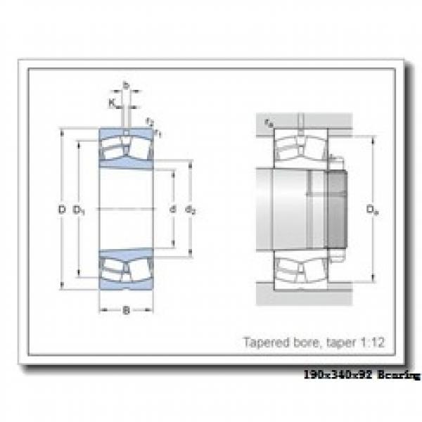 190 mm x 340 mm x 92 mm  Loyal NU2238 E cylindrical roller bearings #1 image