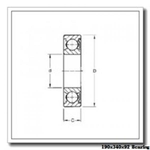 190 mm x 340 mm x 92 mm  KOYO NUP2238 cylindrical roller bearings #1 image