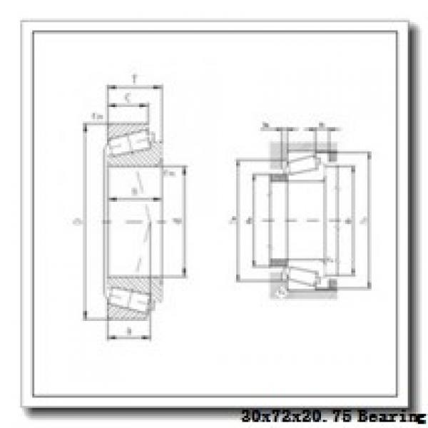 30 mm x 72 mm x 19 mm  ZVL 31306A tapered roller bearings #1 image