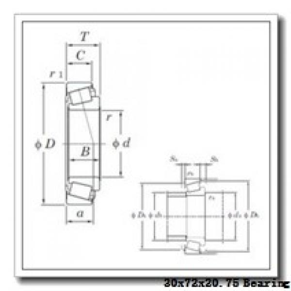 30 mm x 72 mm x 19 mm  FAG 31306-A tapered roller bearings #2 image