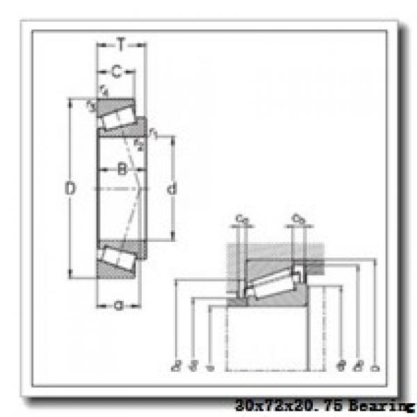 30 mm x 72 mm x 19 mm  KOYO 30306JR tapered roller bearings #1 image