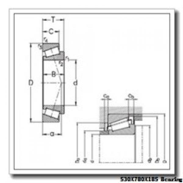 530 mm x 780 mm x 185 mm  Loyal 230/530 KCW33+AH30/530 spherical roller bearings #1 image