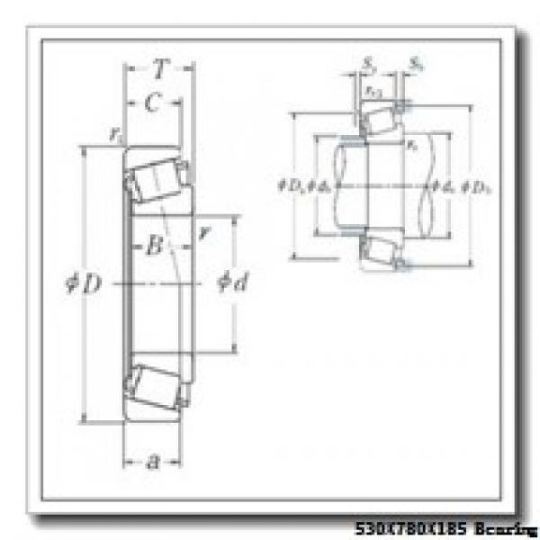 530 mm x 780 mm x 185 mm  Loyal NF30/530 E cylindrical roller bearings #1 image