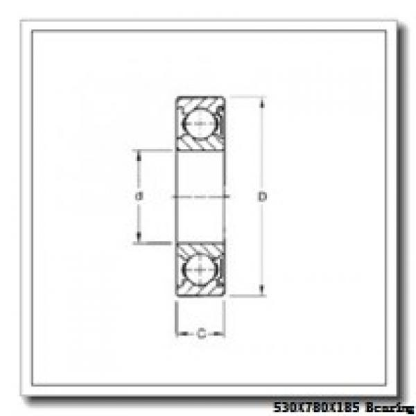 530 mm x 780 mm x 185 mm  Loyal NF30/530 E cylindrical roller bearings #2 image