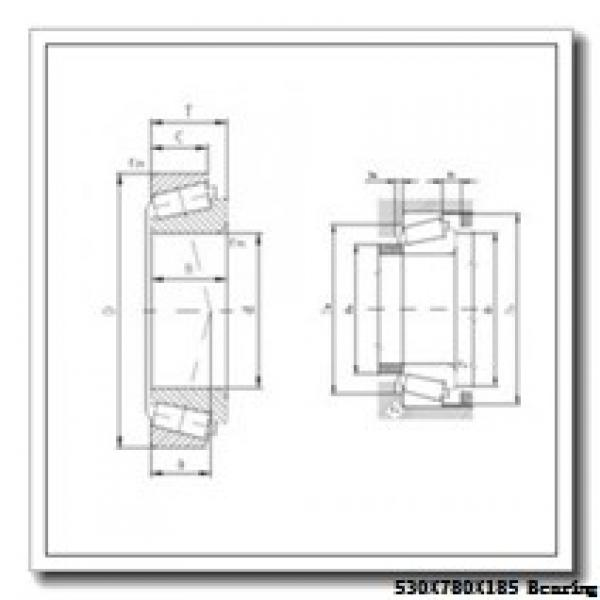 530 mm x 780 mm x 185 mm  ISO NU30/530 cylindrical roller bearings #1 image