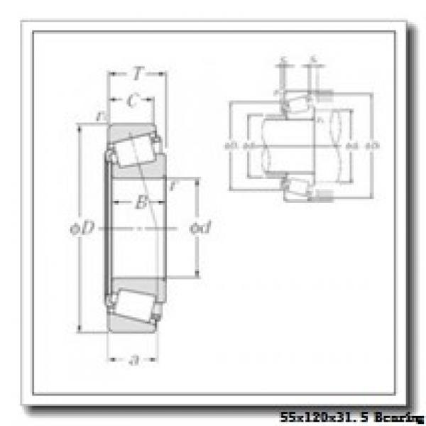 55 mm x 120 mm x 29 mm  NACHI E30311DJ tapered roller bearings #1 image