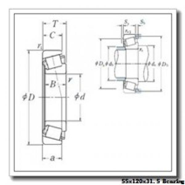 55 mm x 120 mm x 29 mm  Loyal 31311 A tapered roller bearings #1 image