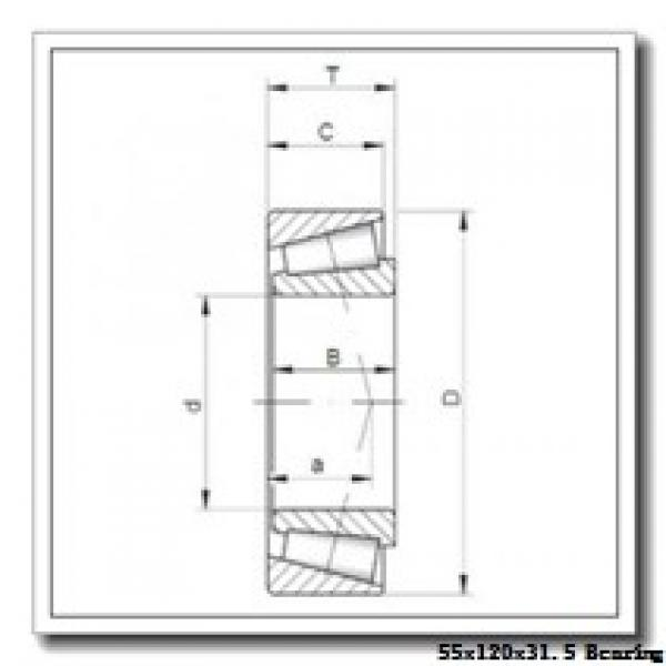 55 mm x 120 mm x 29 mm  KOYO 30311JR tapered roller bearings #1 image