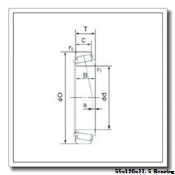 55 mm x 120 mm x 29 mm  FAG 30311-A tapered roller bearings #1 image