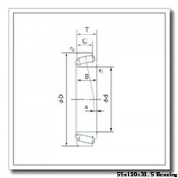 55 mm x 120 mm x 29 mm  KOYO 30311JR tapered roller bearings #2 image
