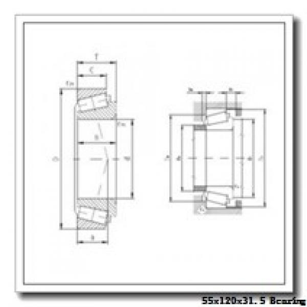 55 mm x 120 mm x 29 mm  ISO 30311 tapered roller bearings #1 image