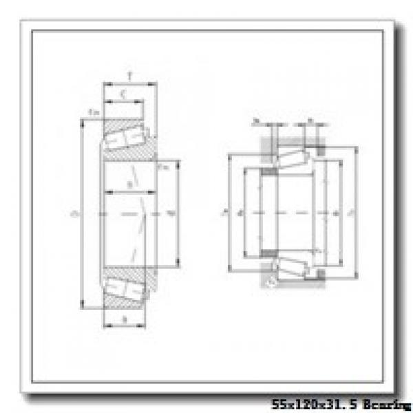 55 mm x 120 mm x 29 mm  NACHI E30311DJ tapered roller bearings #2 image