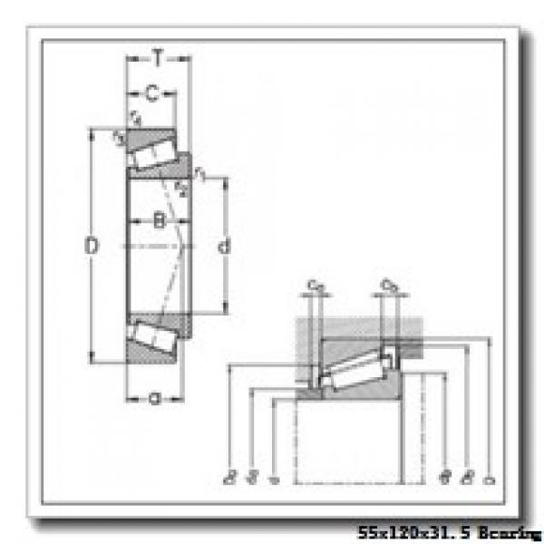 55 mm x 120 mm x 29 mm  NKE 30311 tapered roller bearings #1 image
