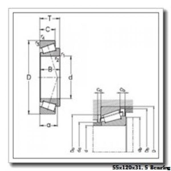 55 mm x 120 mm x 29 mm  NTN 30311 tapered roller bearings #1 image