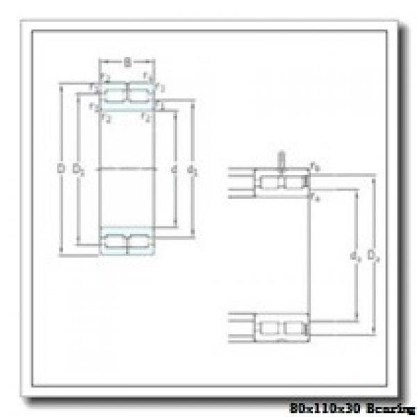 80 mm x 110 mm x 30 mm  IKO NAF 8011030 needle roller bearings #2 image