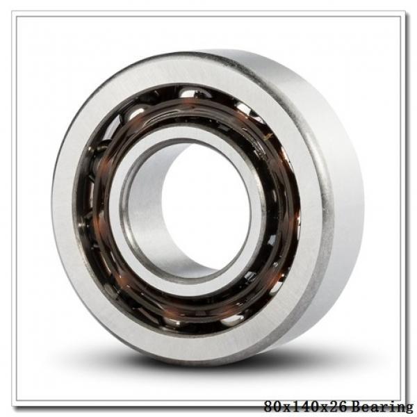 80 mm x 140 mm x 26 mm  NSK 6216NR deep groove ball bearings #1 image