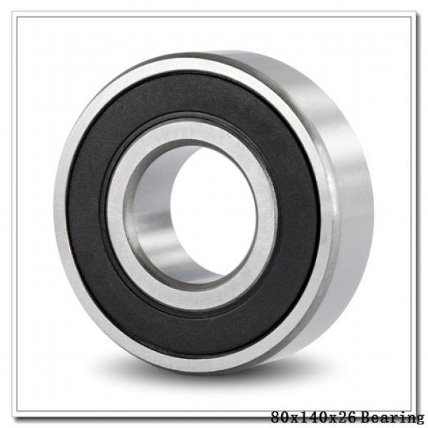 80 mm x 140 mm x 26 mm  NACHI 6216ZNR deep groove ball bearings #1 image