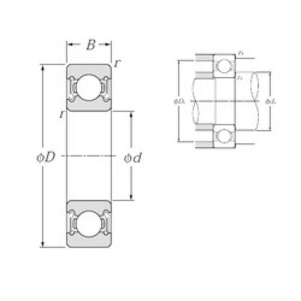 120 mm x 180 mm x 28 mm  NTN 6024LLB deep groove ball bearings #3 image