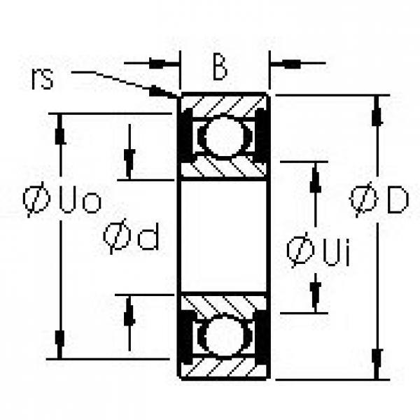 AST 6302-2RS deep groove ball bearings #3 image