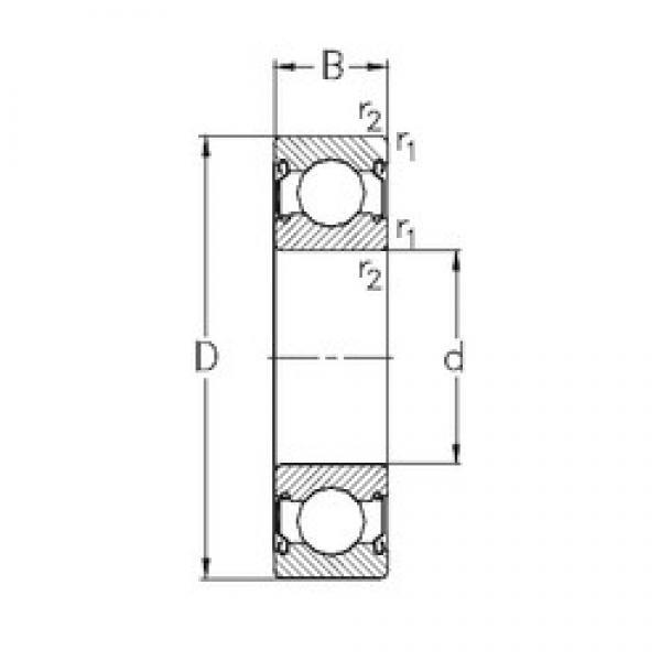 45 mm x 58 mm x 7 mm  NKE 61809-2Z deep groove ball bearings #3 image