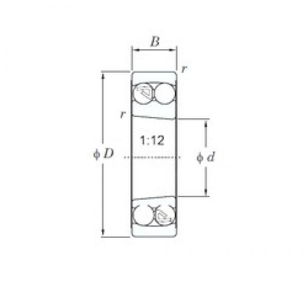 80 mm x 140 mm x 26 mm  KOYO 1216K self aligning ball bearings #3 image