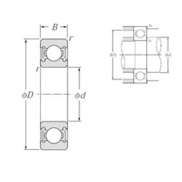 45 mm x 58 mm x 7 mm  NTN 6809LLU deep groove ball bearings #3 image