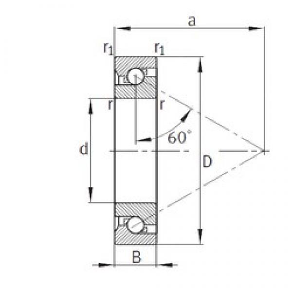 50 mm x 110 mm x 27 mm  FAG 7603050-TVP thrust ball bearings #3 image