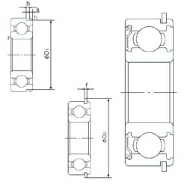 15 mm x 42 mm x 13 mm  NACHI 6302ZENR deep groove ball bearings #3 image