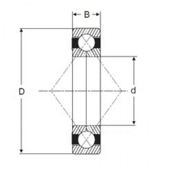 65 mm x 120 mm x 23 mm  SIGMA QJ 213 angular contact ball bearings #3 image
